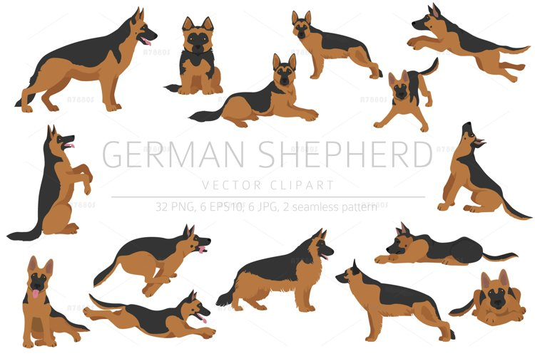 German shepherd clipart