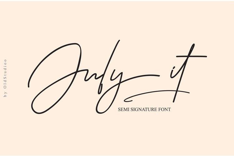 July it Semi Signature Font example image 1