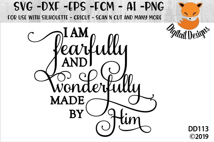 I Am Fearfully and Wonderfully Made SVG example image 1