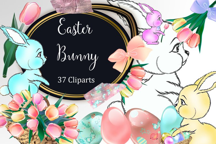 Easter Bunny Clipart example image 1