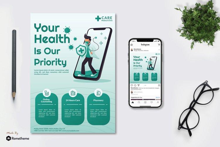 Online Health Medical - Flyer & Instagram Post GR example image 1