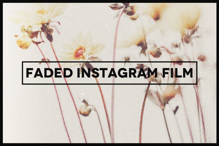 Faded Instagram Film Template example image 1