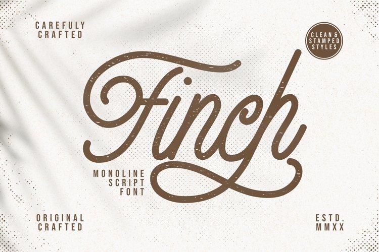 Finch - Monoline Script Font example image 1