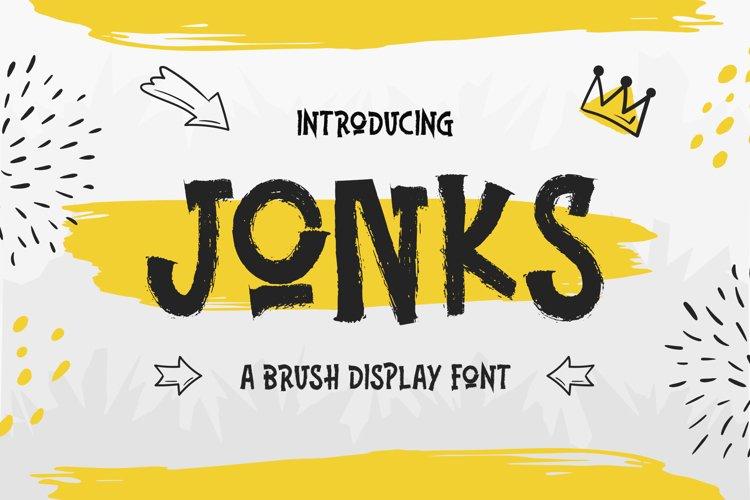 Jonks - A Brush Display Font example image 1
