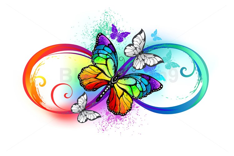 Bright Infinity with Rainbow Butterfly example image 1