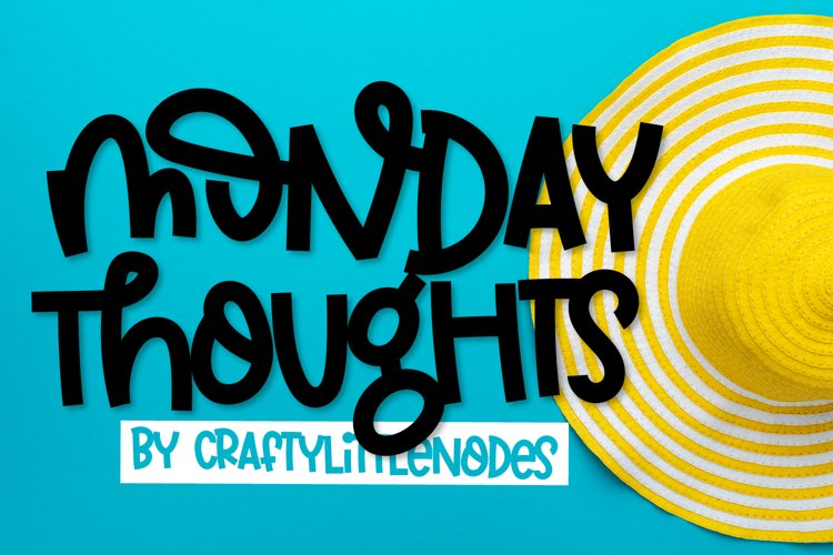 Monday Thoughts - A Quirky Thick Font example image 1