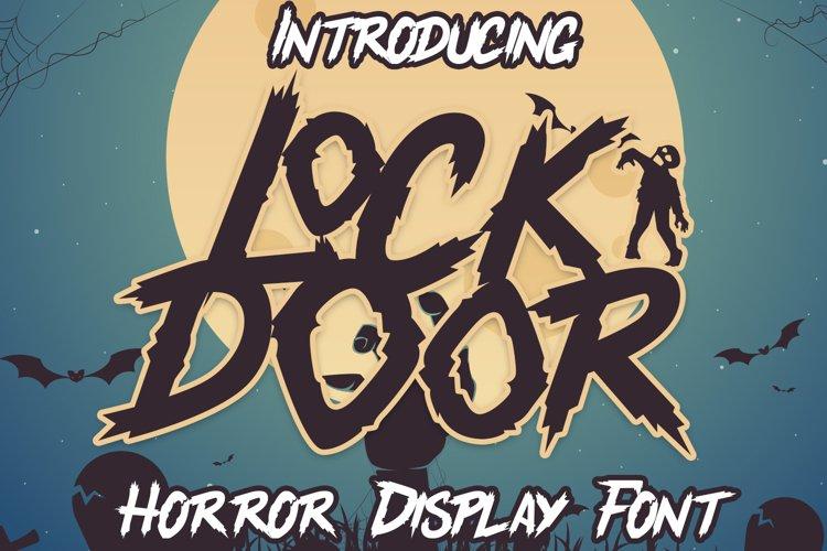 Lockdoor - Halloween Font example image 1