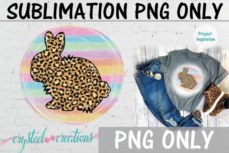 Sublimation Easter Rabbit Leopard Print 300dpi PNG example image 1