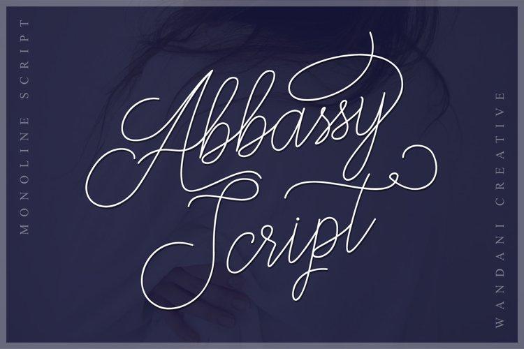 Abbassy Script // Monoline Font example image 1