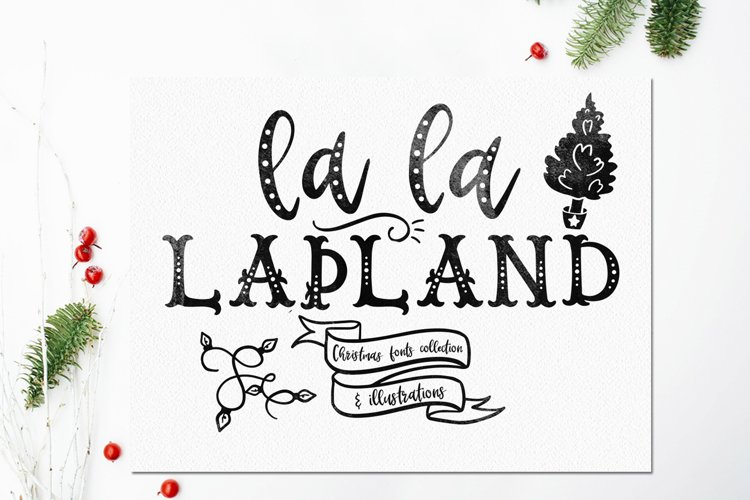 LaLaLapland. Christmas Fonts collection & illustrations example image 1
