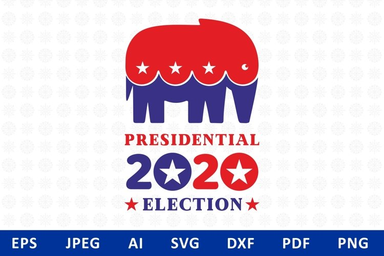 Presidential Election Design Republican elephant example image 1