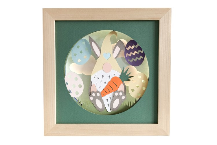 Easter Gnome 3D Shadow Box SVG Layered Paper Cut Template