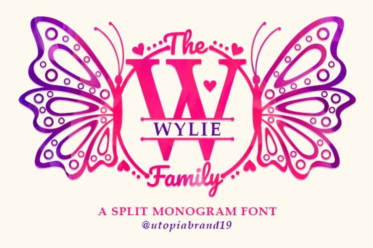 A Split Monogram Font