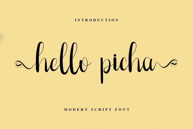 Hello Picha - A Modern Script Font example image 1