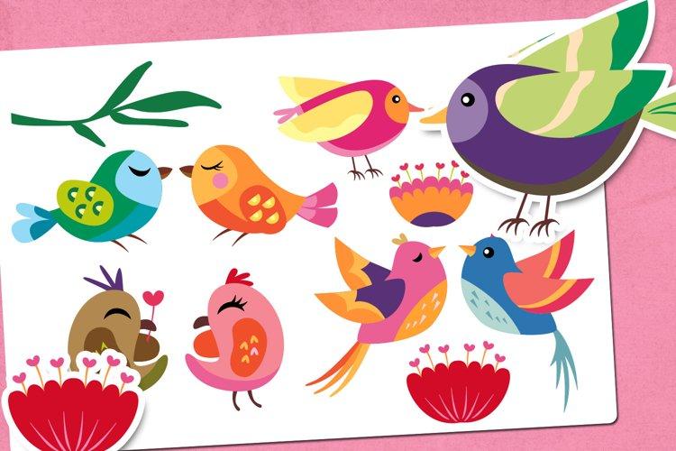Love birds - Valentine Illustrations