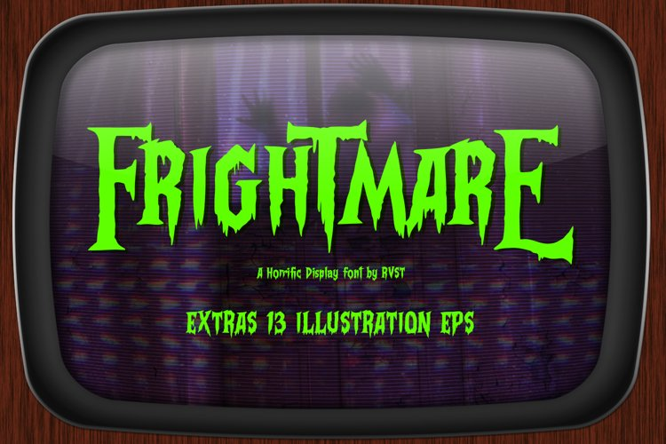 Frightmare - Display font example image 1