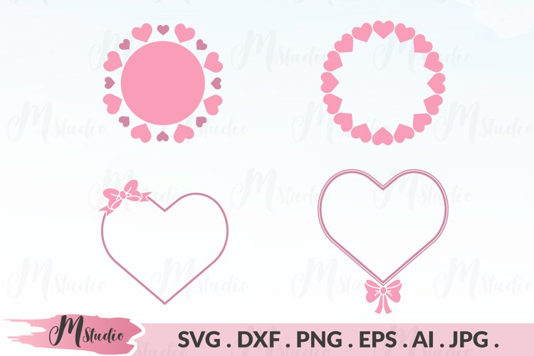 Heart monogram svg example image 1