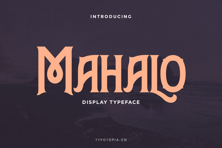 Mahalo Display Typeface example image 1