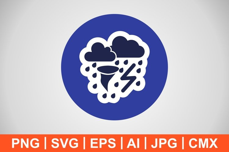 Vector Bad Weather Icon example image 1