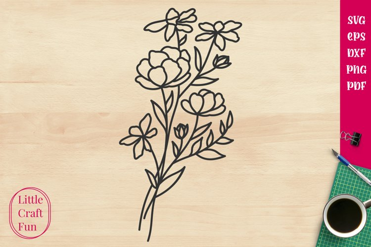 Flowers Svg, Florals Svg example image 1