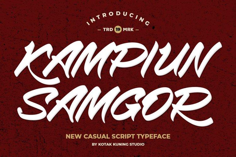 Casual Handwriting - Kampiun Samgor Font example image 1