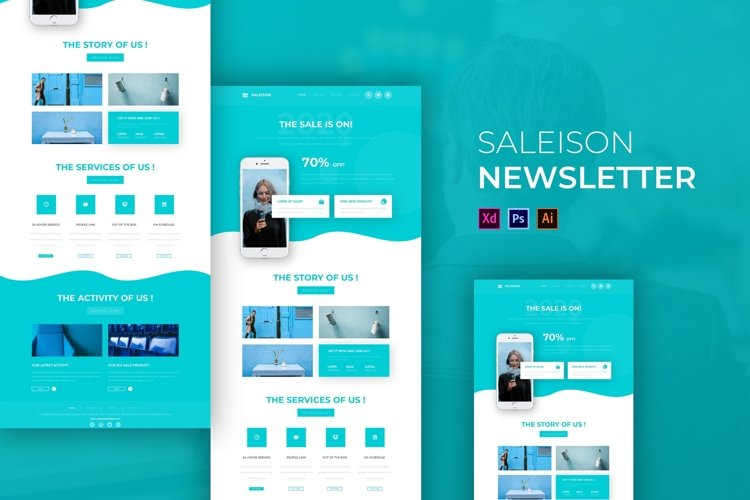 Saleison | Email Newsletter Template example image 1