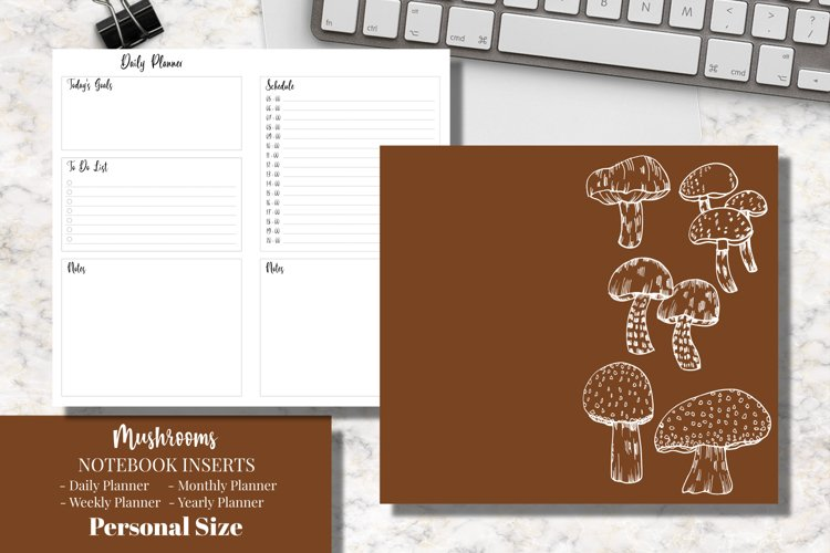 Mushrooms Personal Size Notebook Inserts Planner example image 1