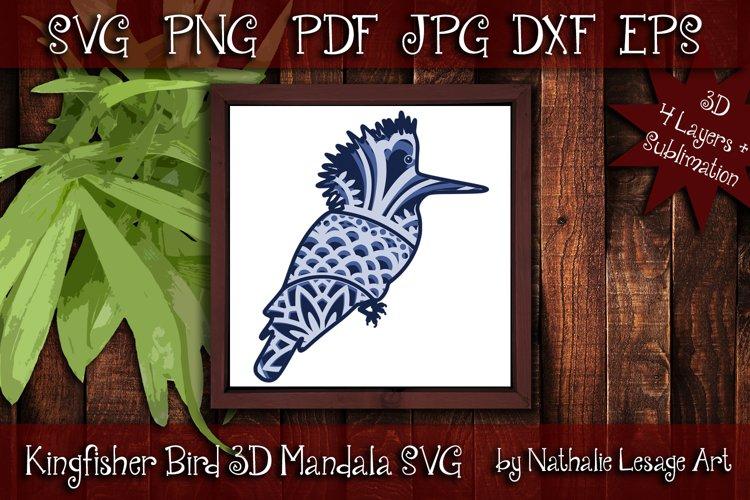 Layered Mandala Bird 3D SVG Beach Design Clipart Sublimation