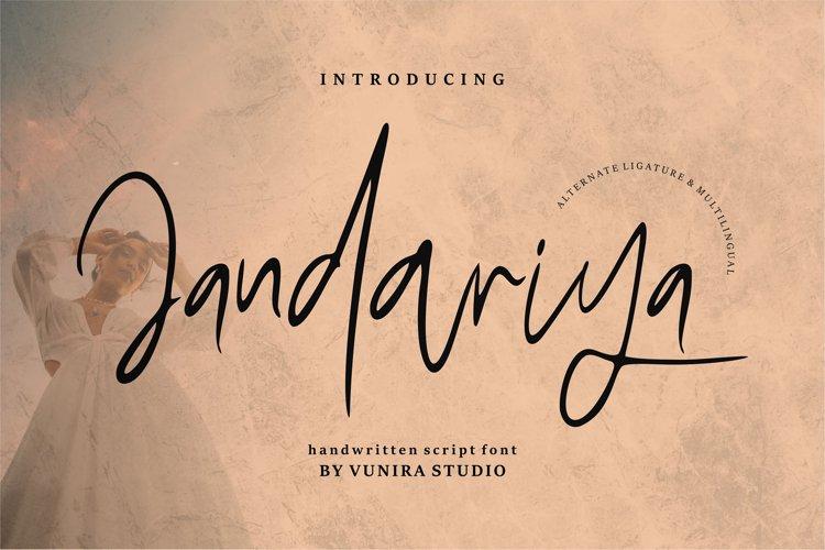 Jandariya | Handwritten Script Font example image 1