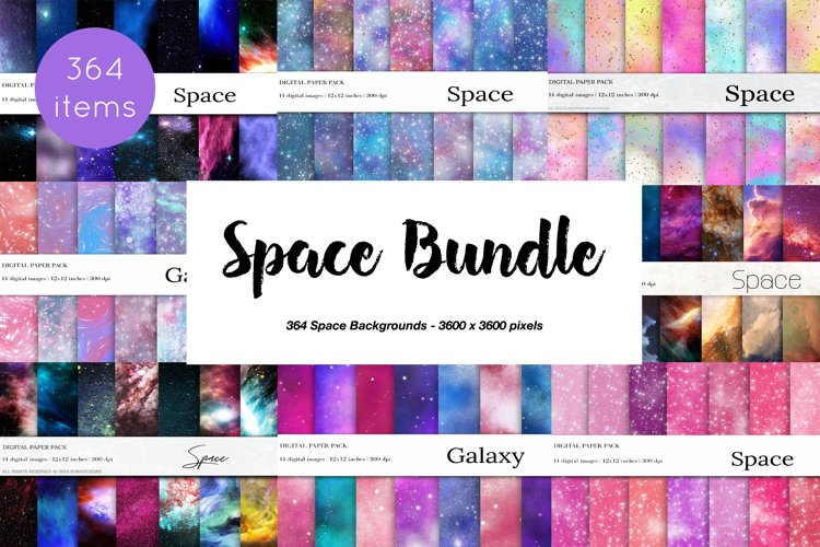 364 Space Galaxy Bundle, Nebula, Cosmos Backgrounds