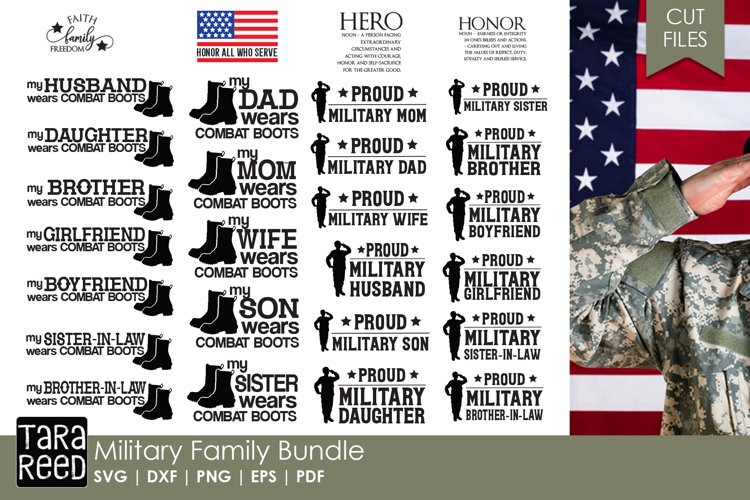Military Family - Military SVG and Cut Files for Crafters