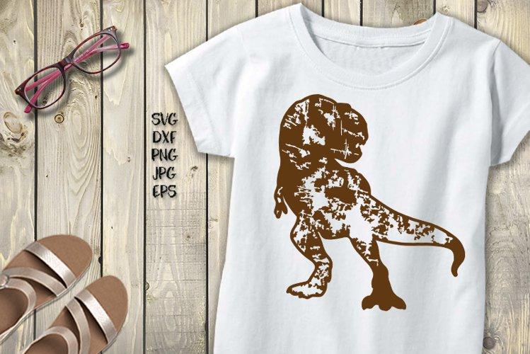 Dinosaur svg, Grunge Patterned dinosaur svg example image 1