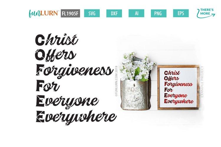 C.O.F.F.E.E. Christ Offers Forgiveness For Everyone SVG