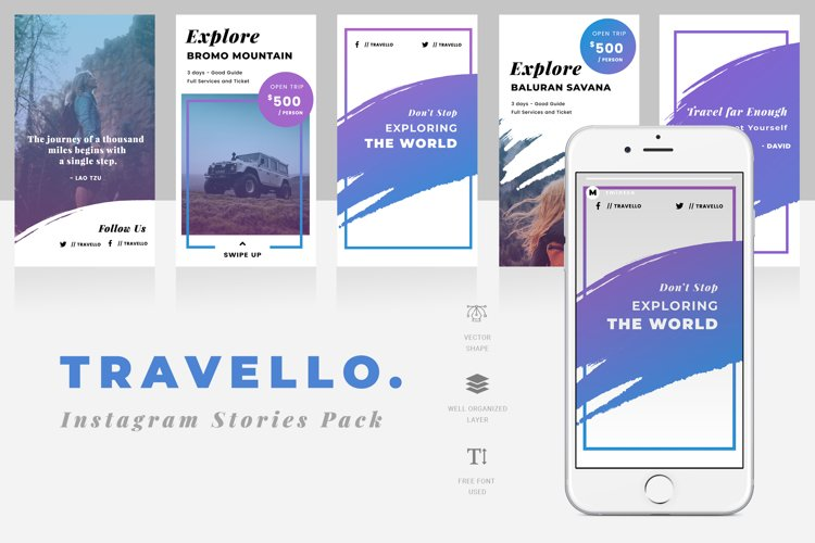 Travello Instagram Stories Template example image 1