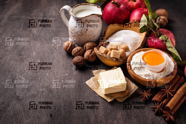 Ingredients for cooking apple pie example image 1