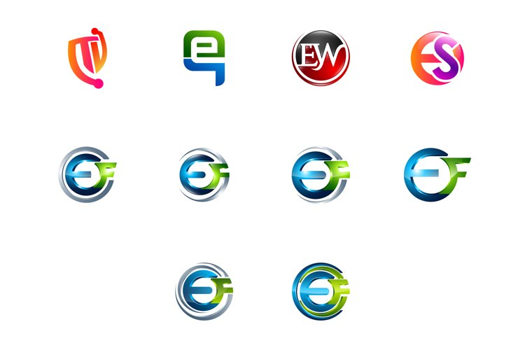 Modern and elegant business logos set example image 1