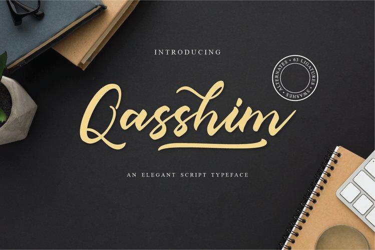 Qasshim - Elegant Script Typeface