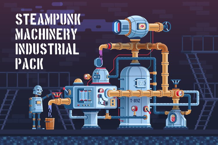 Machinery Steampunk Industrial Pack example image 1