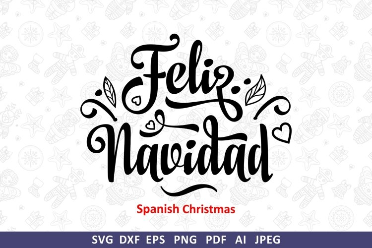 Feliz Navidad svg Spanish Christmas svg Around the World
