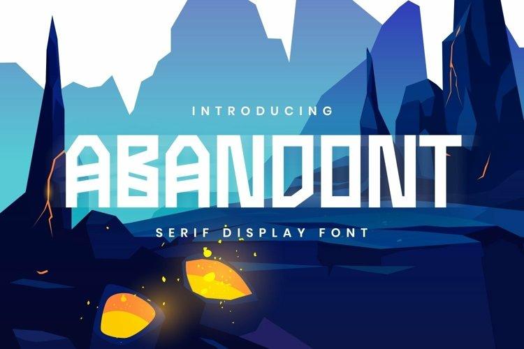 Web Font Abandont Font example image 1