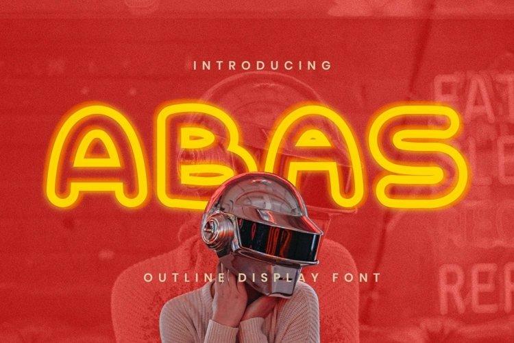 Web Font Abas Font example image 1