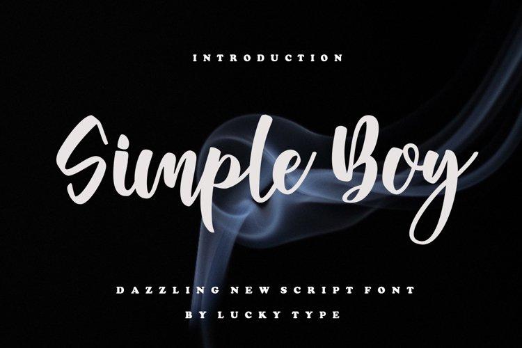 Simple Boy Script example image 1