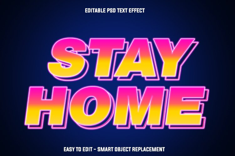 insta stay home text effect example image 1