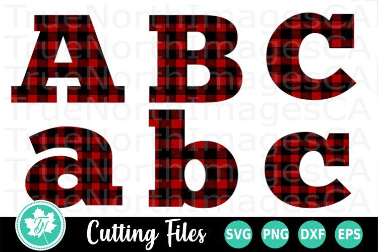 Plaid Letters SVG | Plaid Alphabet SVG | Christmas SVG example image 1