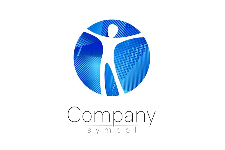 Modern head logo of Company Brand . Human in the circle . example image 1
