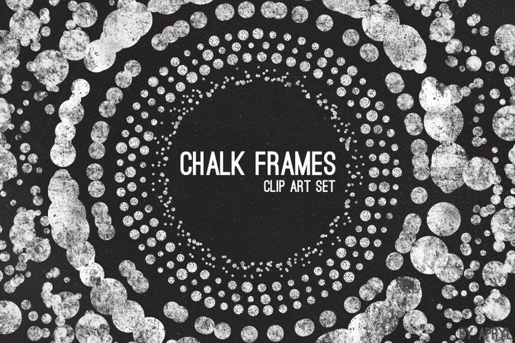 Chalk Confetti Frames Clip Art example image 1