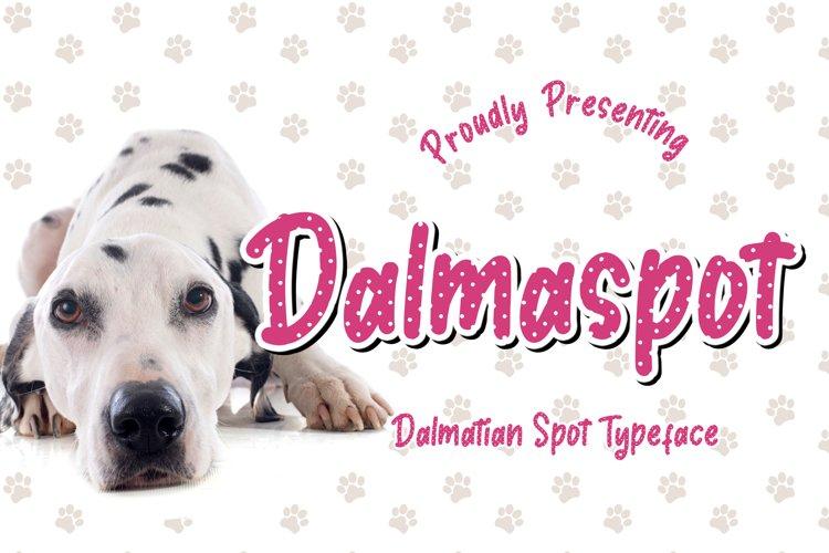 Dalmaspot Dalmatian Spot Typeface example image 1