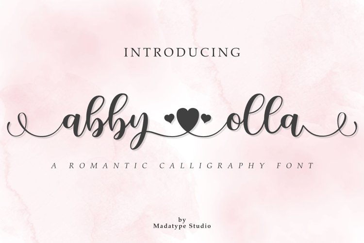 Abby Olla | A Romantic Calligraphy Font