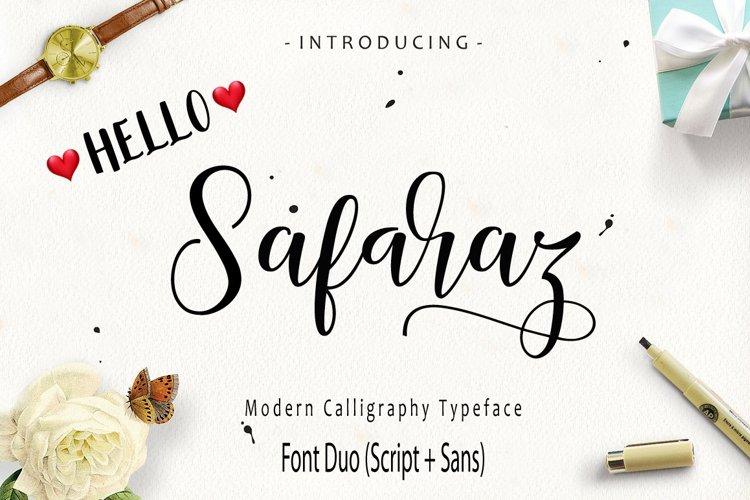 Safaraz Script Font Duo