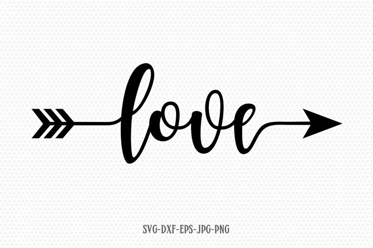 Love Valentine SVG, Valentines Day SVG, Love arrow SVG example image 1